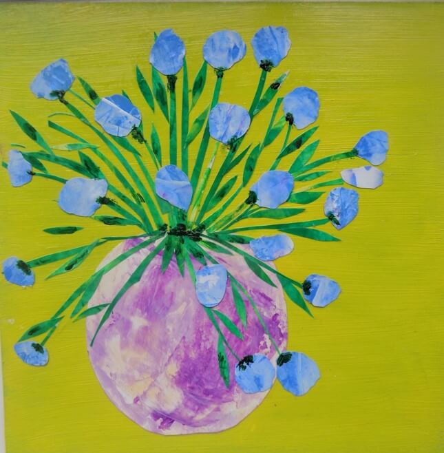 A jug of spring flowers in collage art class chester art centre a jug of spring flowers in collage art class chester art centre showcasing unique local national international artists mightylinksfo